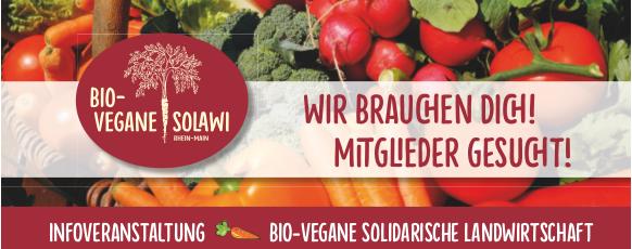 Mitglieder gesucht! 2. Infoveranstaltung zur bio-veganen SoLaWi 2020